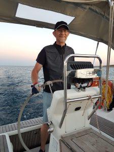 Skipper Roland. SKS Segelschein Yacht in der Adria