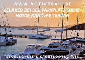 Skippertraining - Motor Manövertraining für die Segelyacht