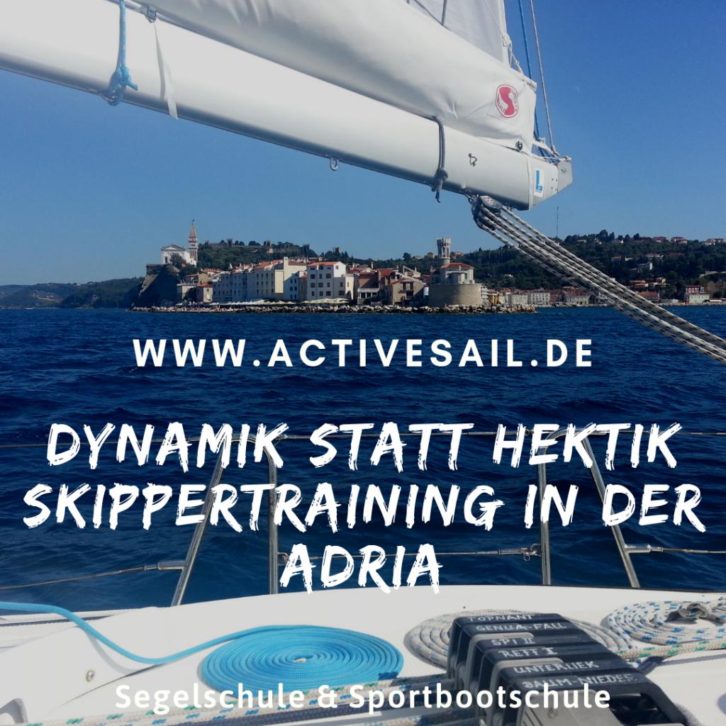 Skippertraining in der Adria mit Ihrer segelschule Activesail
